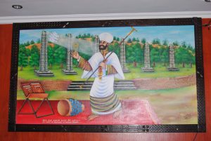 Saint Yared Chanting Painting